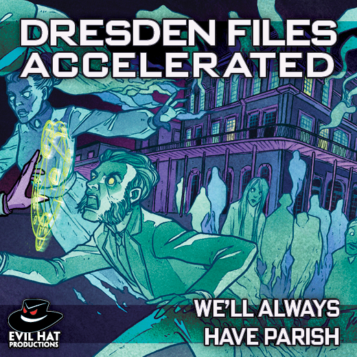 Cover art for Dresden Files Accelerated: We'll Always Have Parish